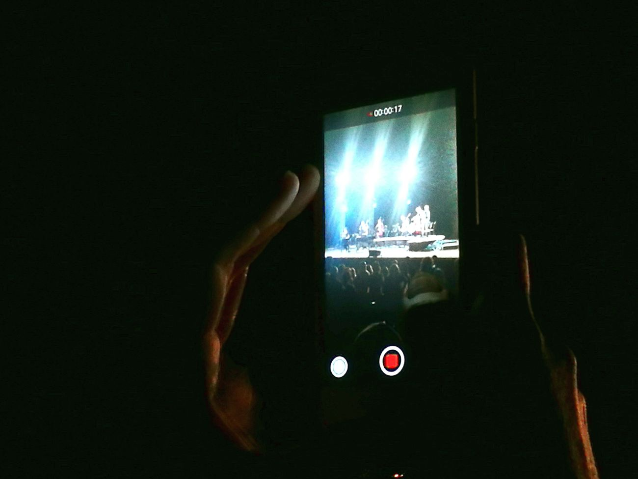 Taking Photos Mobilephotography Summer Nights A Night Out.. Concert Music Internet Addiction