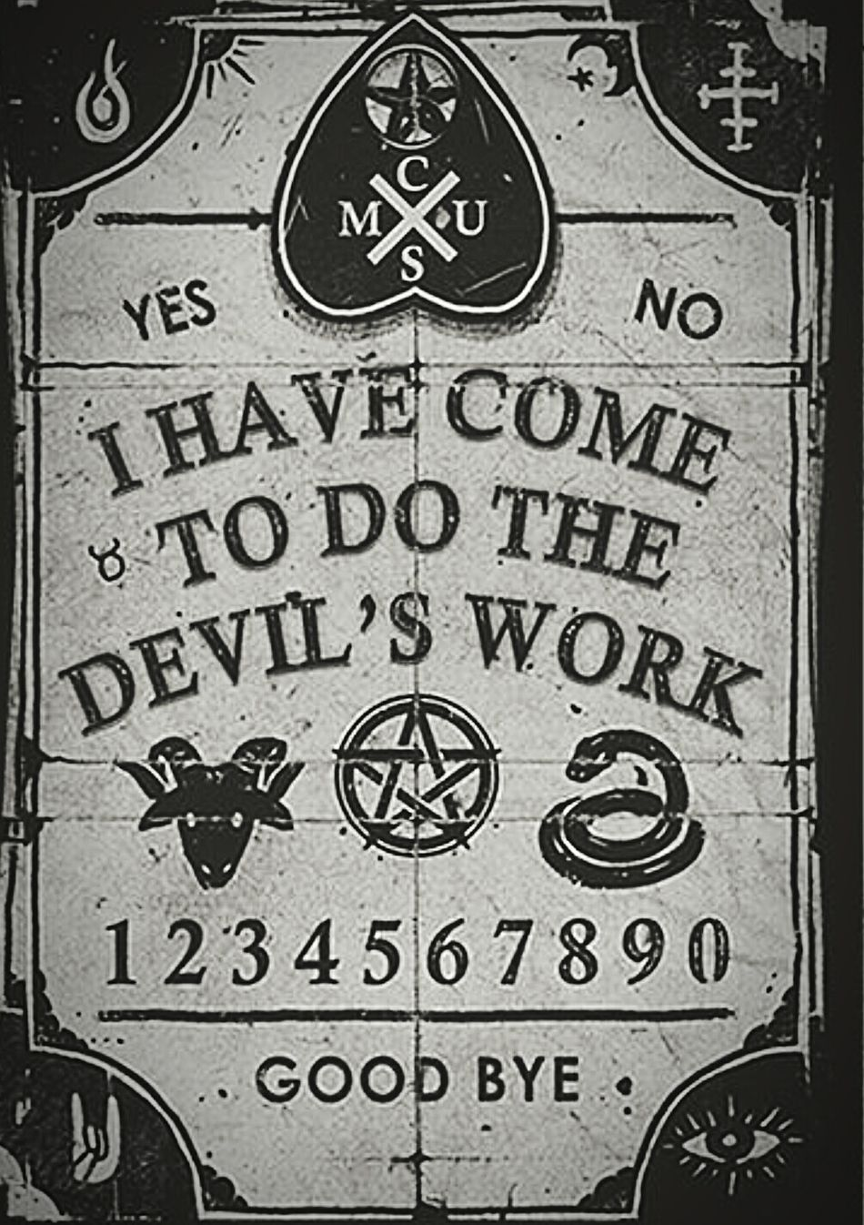 Text No People Close-up Evil Gothic Dark Devil Satanic Ouija Board  Demons Horror Evil Quotes