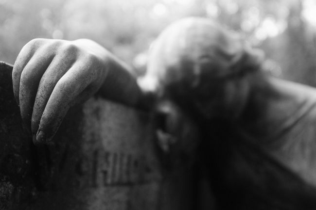 Statue Cemetery Bw_collection Darkness And Light Blackandwhite