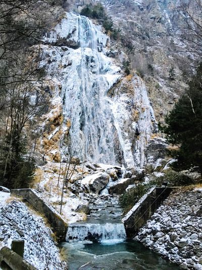 Water Nature Outdoors Ice Beauty In Nature No People Waterfall Day Cold Temperature Glacial Frozen Waterfalls