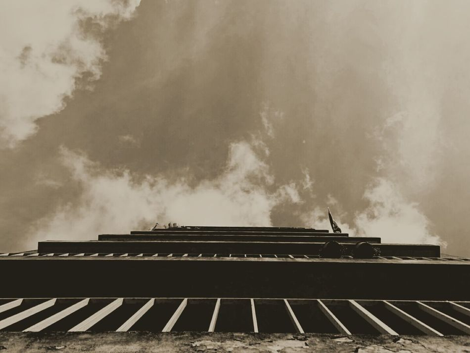 Architecture Cloud - Sky Industrial Industrial Photography Industrial Building  Old Flat Flat industrial design old old buildings Black & White Sepia