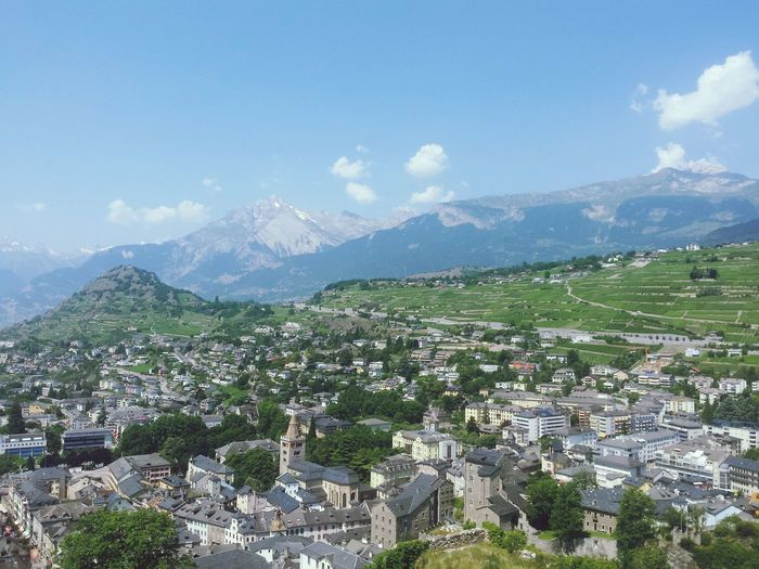 Sion Valere City Mountain Day Outdoors Castle No People Sky First Eyeem Photo