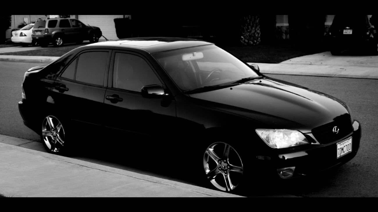 Lexus Is300 Is300 Blackonblack Black And White