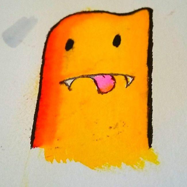 Doodles <3 Rsrsrs, mais um hobby Doodle Instandoodle Monster Desenho Marcadores Instangood