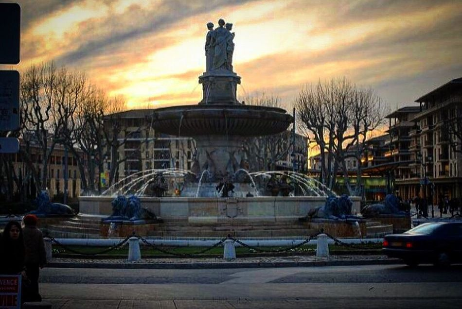 Aixenprovence France Fountain Clouds Clouds And Sky
