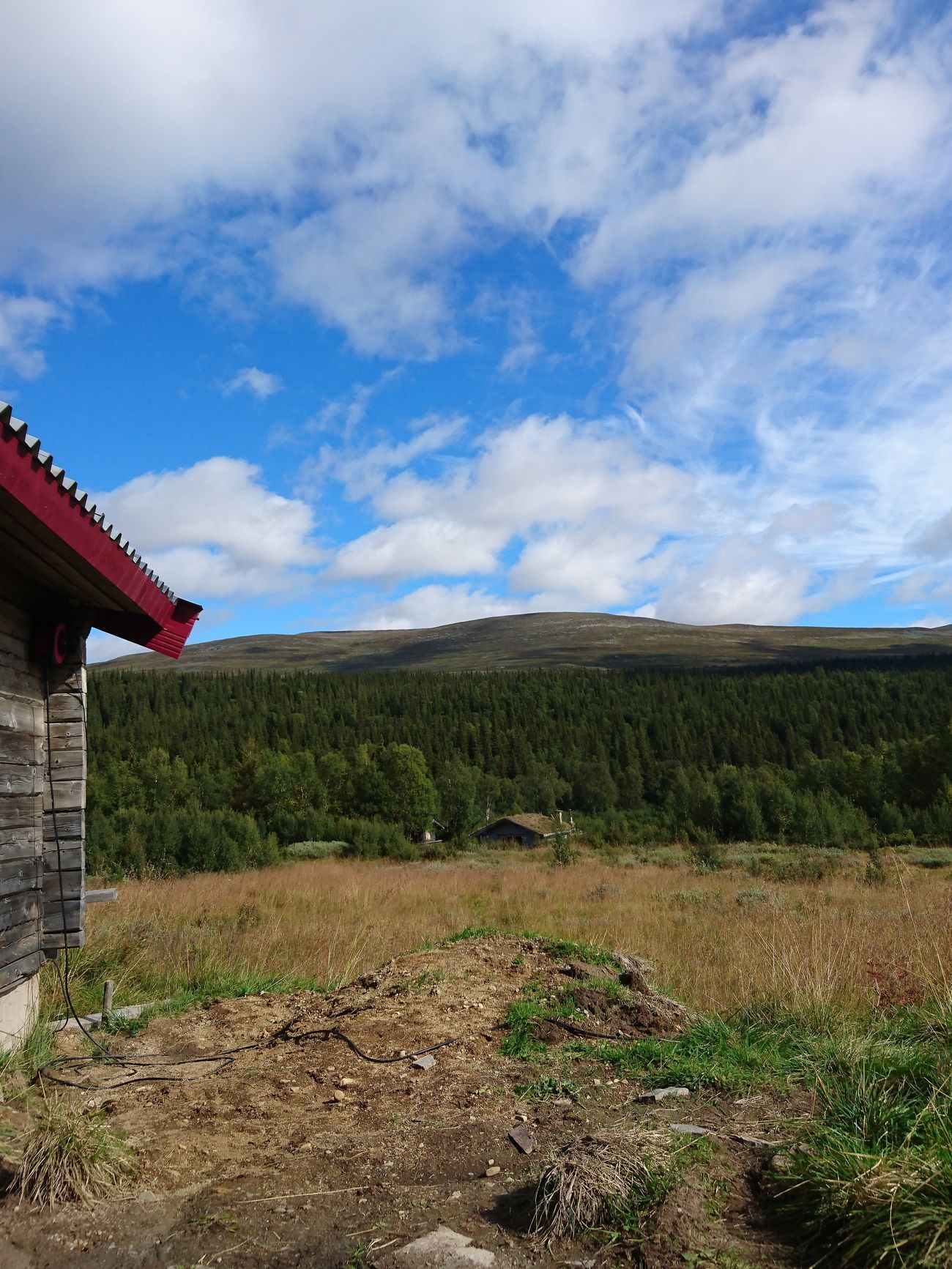 Ängesvallen Houses Mountain Sky Countryside Day Tranquil Scene Nature Beauty In Nature