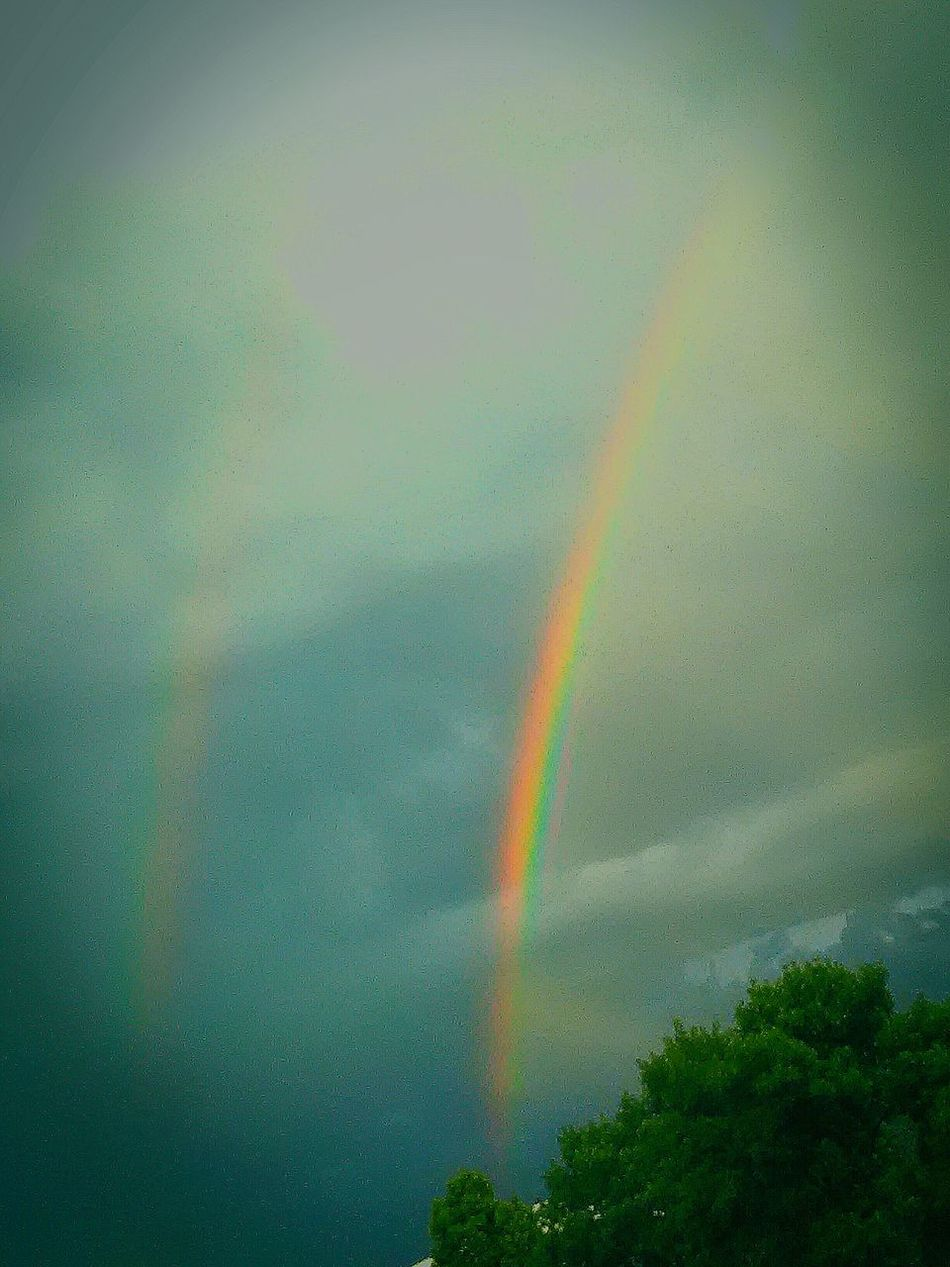 Rainbows Real Rainbow Colors Clouds Lovers Beautiful Sky Mother Natures Artwork