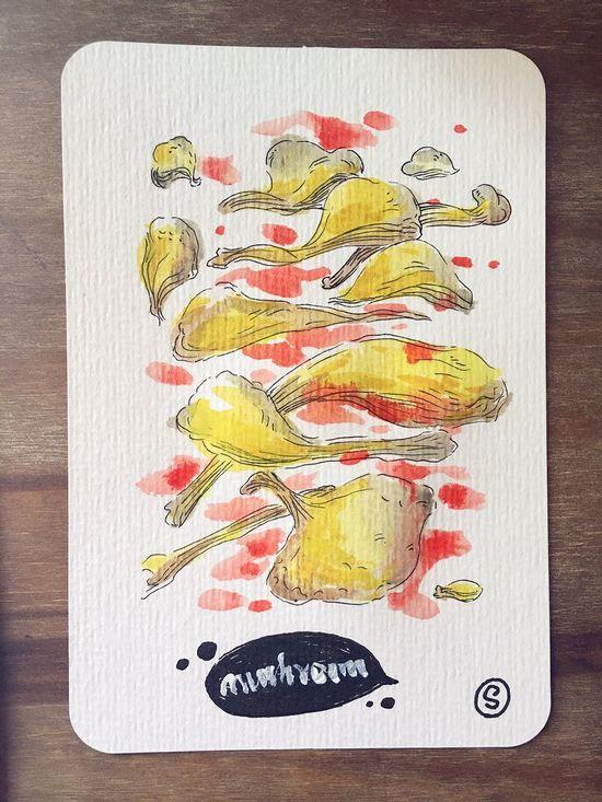 Watercolor Painting Mushrooms Watercolor Drawing Sophiesart