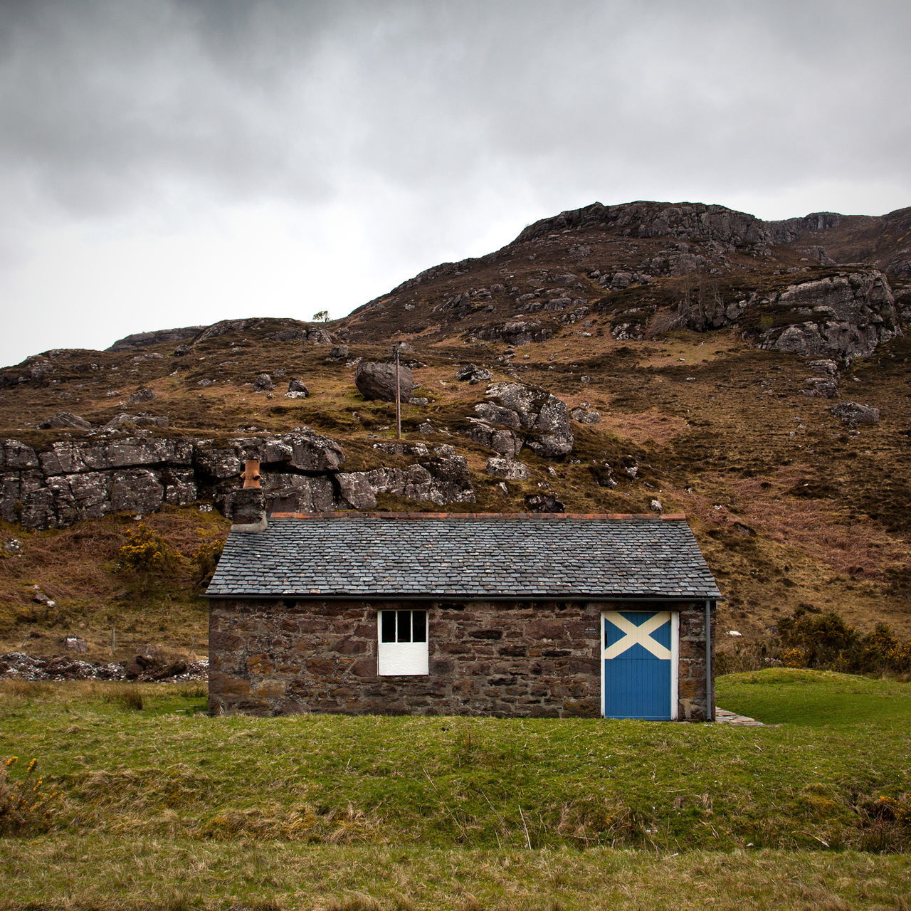 Bothy Clouds Dundonnell Dwelling Highlands Highlands Of Scotland Landscape No People Scotish Home Scotland Scottish Dwelling Scottish Flag Scottish Highlands Scottish House Sky West Coast West Coast Scotland