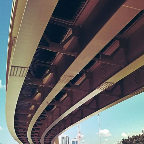 Overpass Overpass View Underneath Underpass Road Highway Urban Skyline Urban Filtered Image Architectural Feature