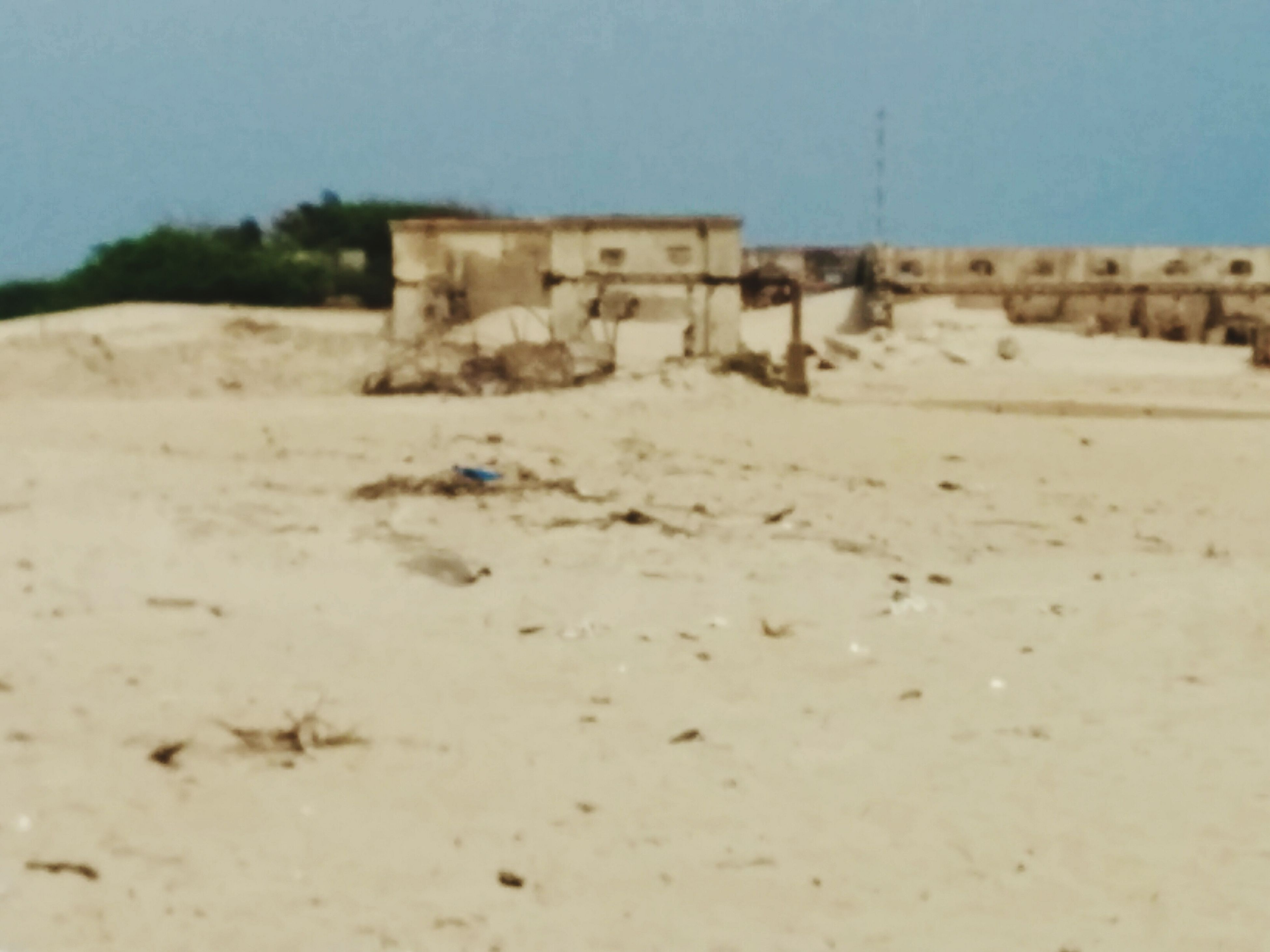 built structure, no people, sand, landscape, architecture, abandoned, nature, outdoors, building exterior, day, sky, beach, desolate