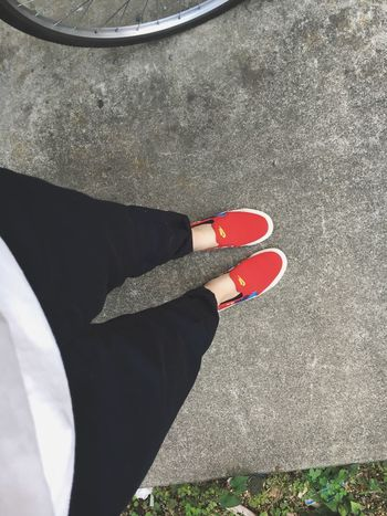 My shoes... It's so cute😍 Today I go to Tokyo. Nike Shoes Ootd Red Me Code