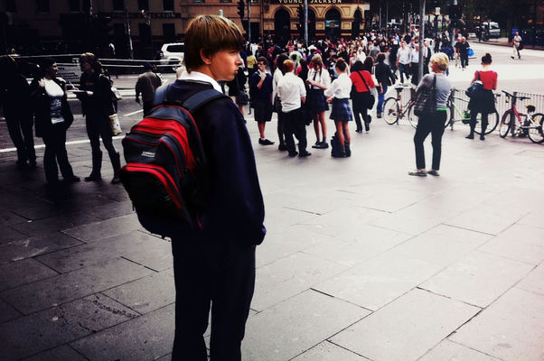 streetphotography at Flinders Street Station Steps by chaosboi