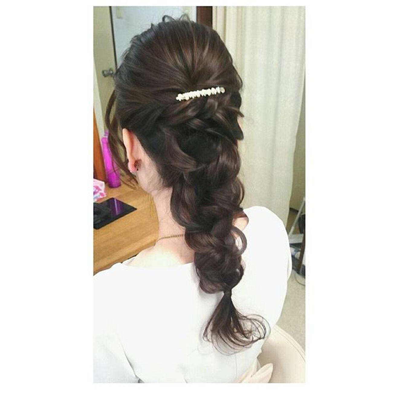 ヘアセット Hairアレンジ ヘアアレンジ Hair 美容院 錦 セットサロン ブライダル ヘアー Locari Byshair ラプンツェル♡