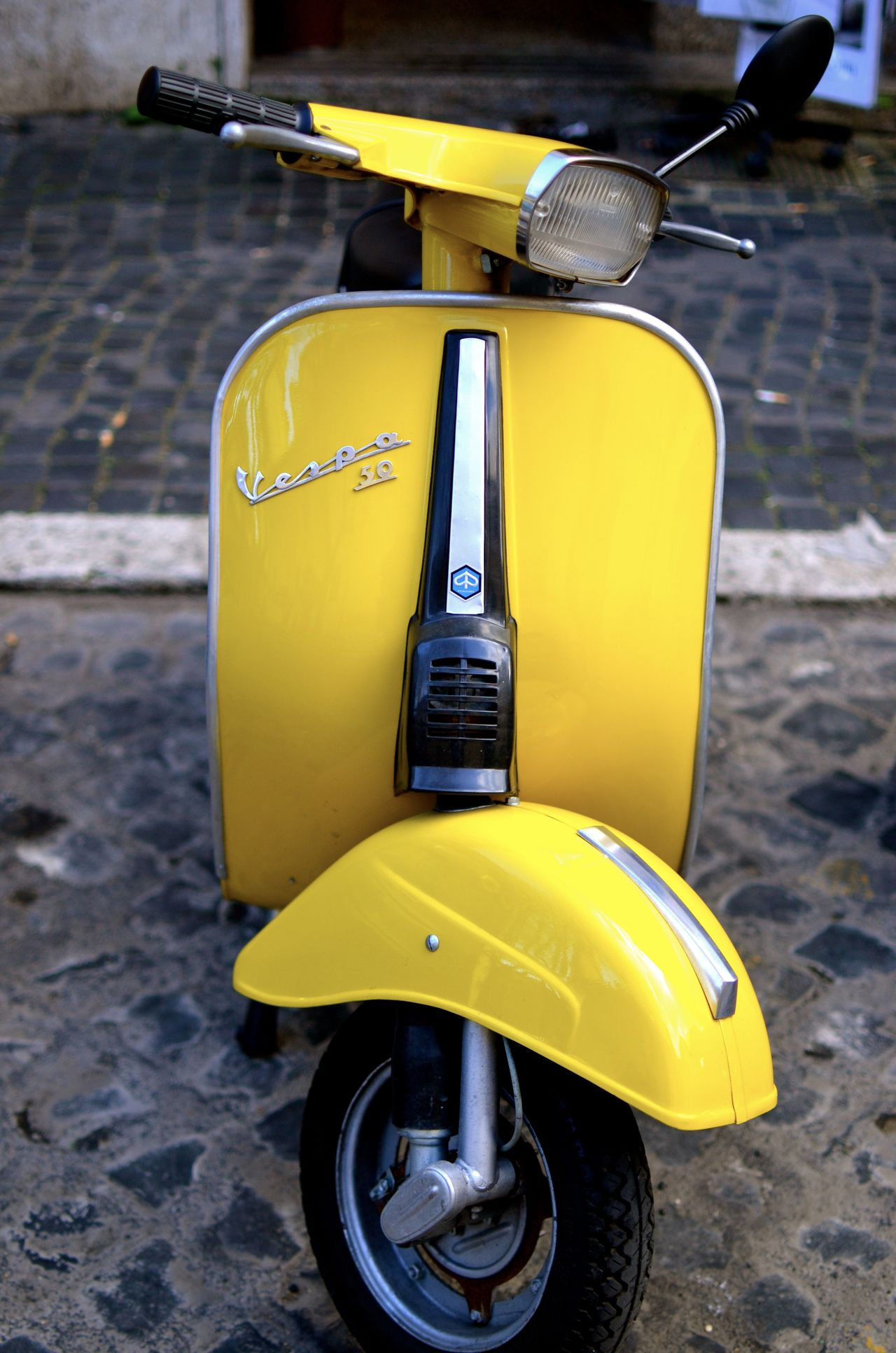 Italian Way Of Life Rom Scooter Streetphotography Transportation Vehicle Two Wheels Vespa Way Of Transport Way Of Travel Yellow
