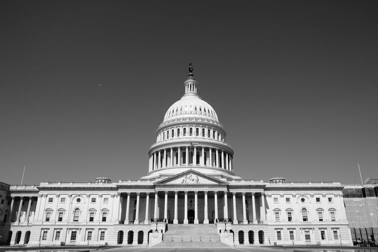 Capitol Capitol Building US Capitol Building United States Capitol Building Washington, D. C. America Architectural Column Architecture Building Exterior Built Structure City Clear Sky Day Dome Government Low Angle View No People Outdoors Politics Sky Travel Destinations