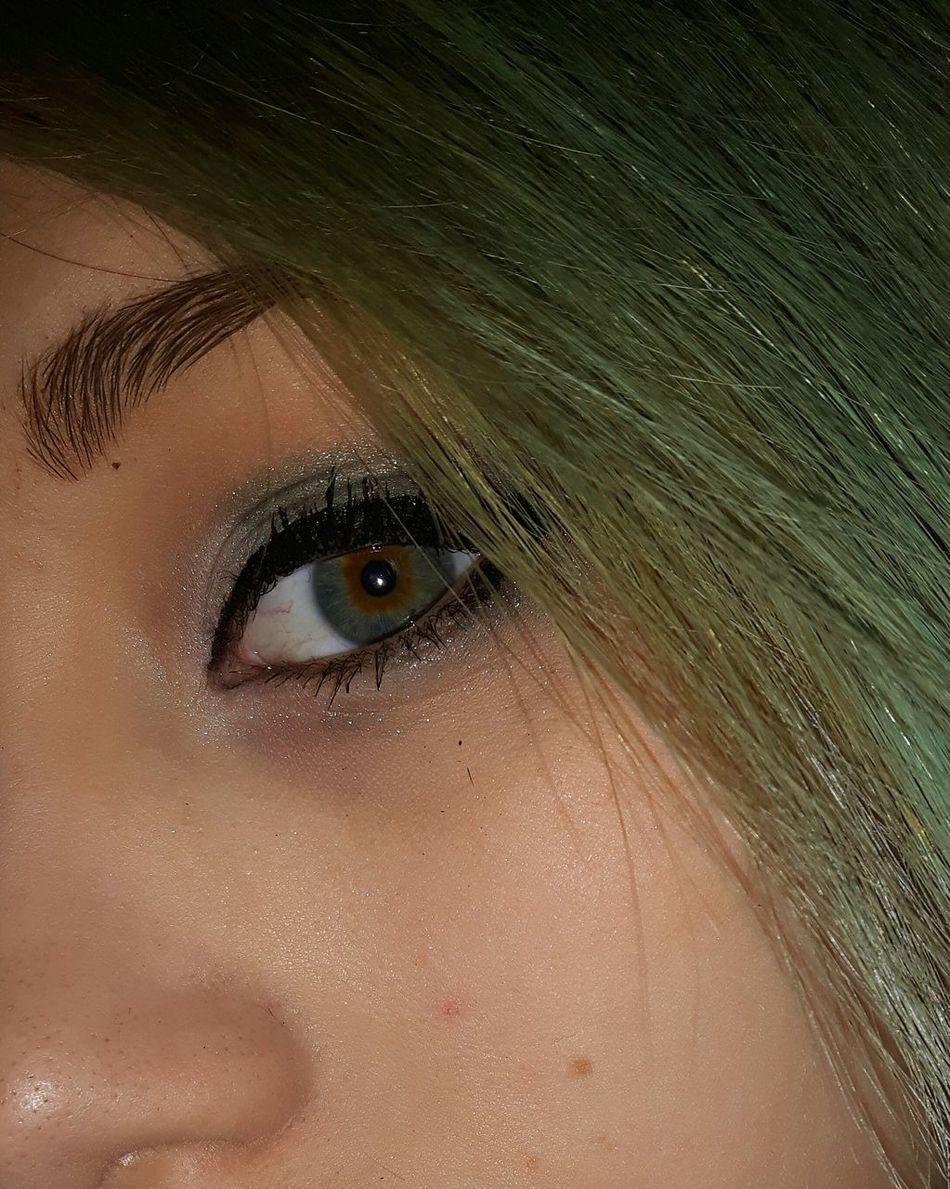 My eye :) Human Face Close-up Headshot Portrait Beautiful Woman Young Women Beauty Human Eye Eye Green Eyes Blue Eyes Twocoloreyes Pretty Beautiful Makeup Makeuponpoint  Makeuponfleek Eyelashes Photography Photooftheday Myeye Me