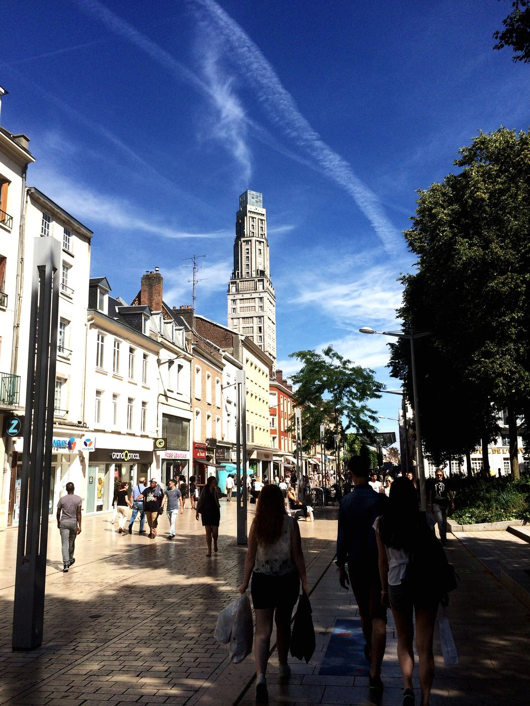 Streetphotography Shopping Time Sales Summer TourPerret Amiens Downtown Sunny Day Clear Sky