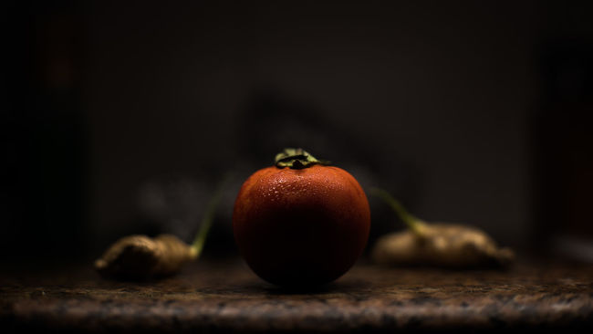 Cenital Lighting Fruit Ginger Healthy Eating Light And Shadow No People Organic Red Selective Focus Tomato Vegetables