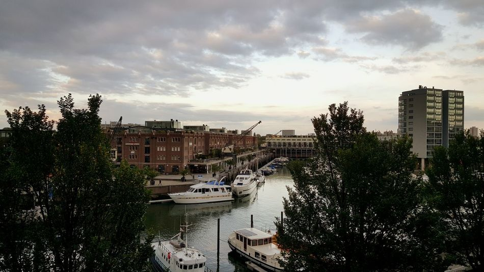 Dutch Cities Taking Photos Urban Urbanphotography City Life Harbour View City Boats Old Buildings Clouds And Sky