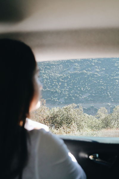 Only Women Sea Rear View Adults Only Water One Person One Woman Only Adult Day People Travel Journey Window Mature Adult Looking Through Window Women Over The Shoulder View Summer Nature Horizon Over Water