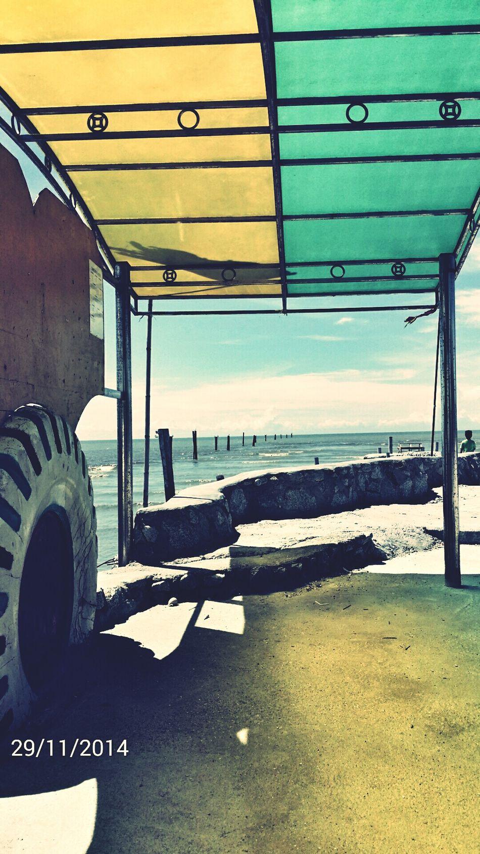 Shelter Beach Straits Of Malacca Beach At Sekinchan, Malaysia
