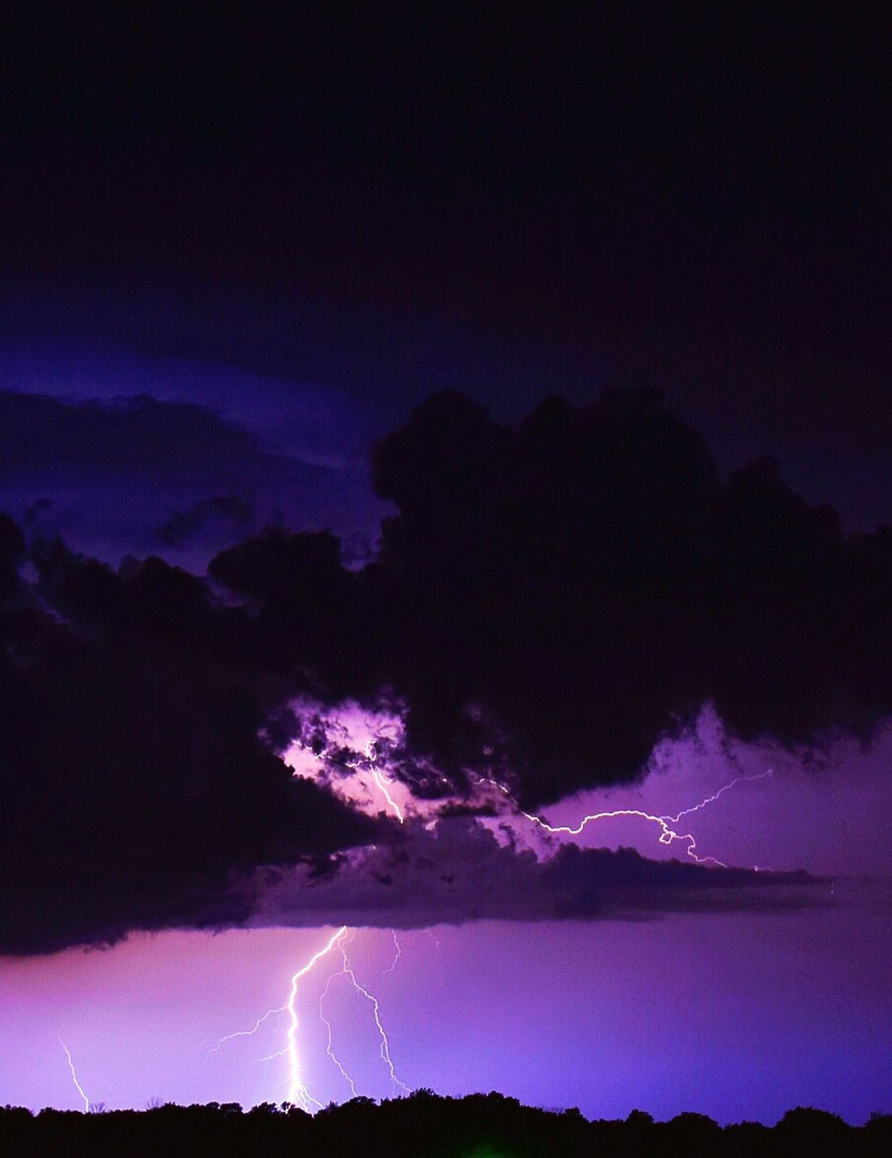 An edit done on the iPhone 6S Plus Lightning Power In Nature Forked Lightning Thunderstorm Night Weather Storm Dramatic Sky Sky Storm Cloud Scenics Nature Beauty In Nature No People Cloud - Sky Electricity  Illuminated EyeEmNewHere The Great Outdoors - 2017 EyeEm Awards EyeEmNewHere