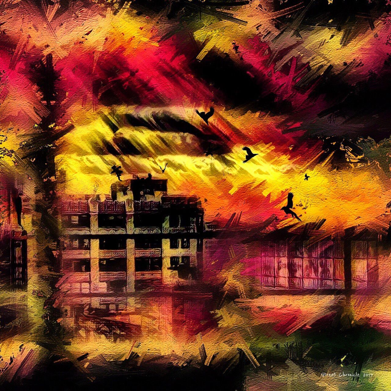 Reflection Multi Colored No People Outdoors NYC Art Artist Fashion Art Gallery Style Arts Culture And Entertainment Art, Drawing, Creativity Artistic Digital Art Building Exterior Digital Composite New York Photooftheday Picoftheday ArtWork Built Structure
