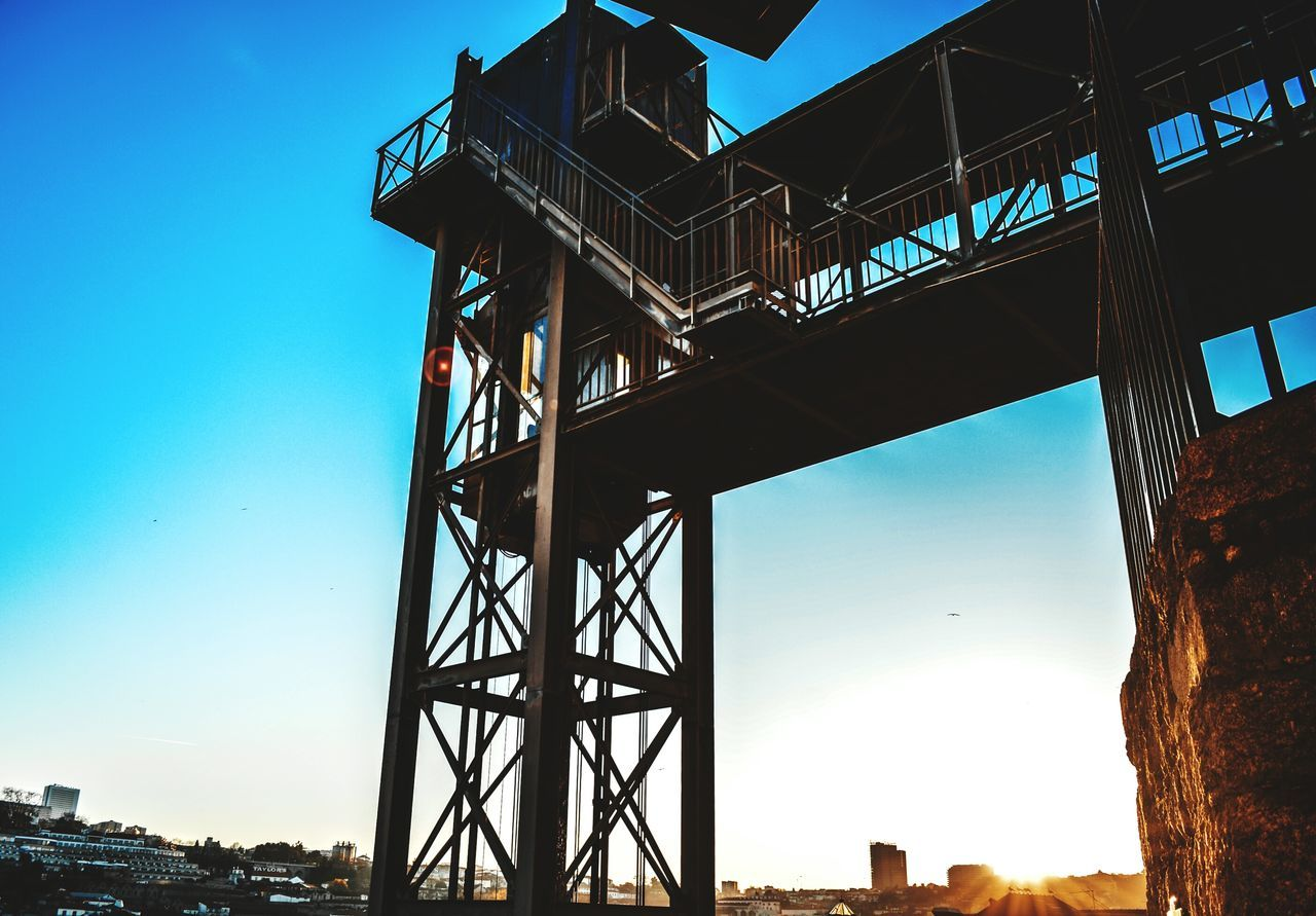 🌀 Taking Photo Hanging Out Porto City Low Angle View Clear Sky Sky Built Structure City Architecture DayMetal Industry No People Bridge - Man Made Structure Outdoors