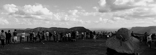 Taking Photos Bluemountains IPhoneography Sydney Iphoneography Landscape Blackandwhite Katoomba Tourism Tourist Echo Point