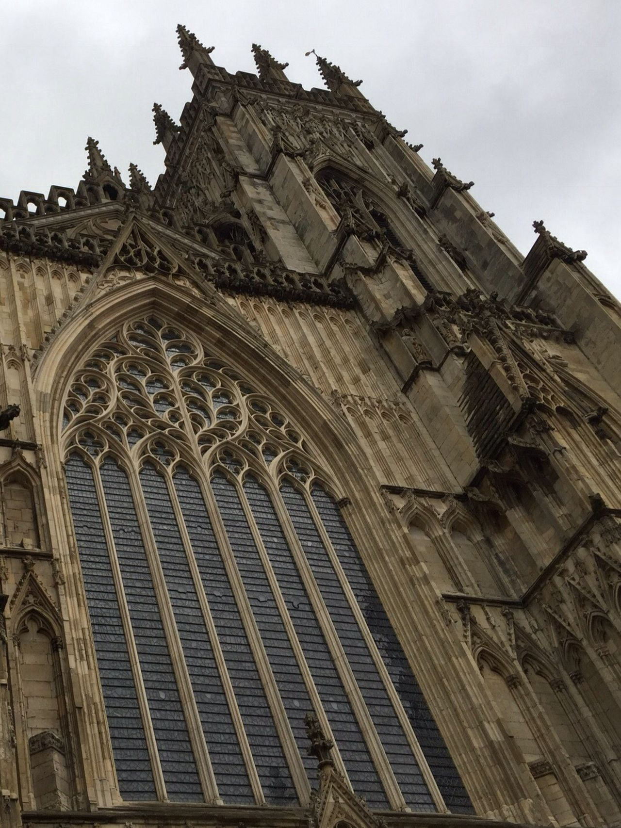 Low Angle View Architecture Building Exterior Sky Built Structure Outdoors Day No People Place Of Worship Rose Window History York Historical Building Place Of Worship