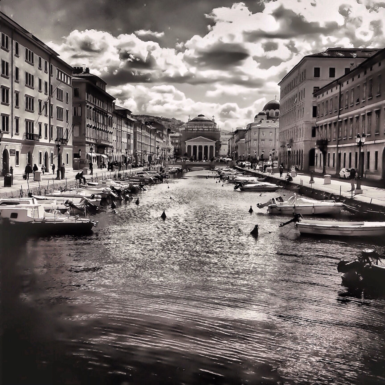 Old Town With Canal