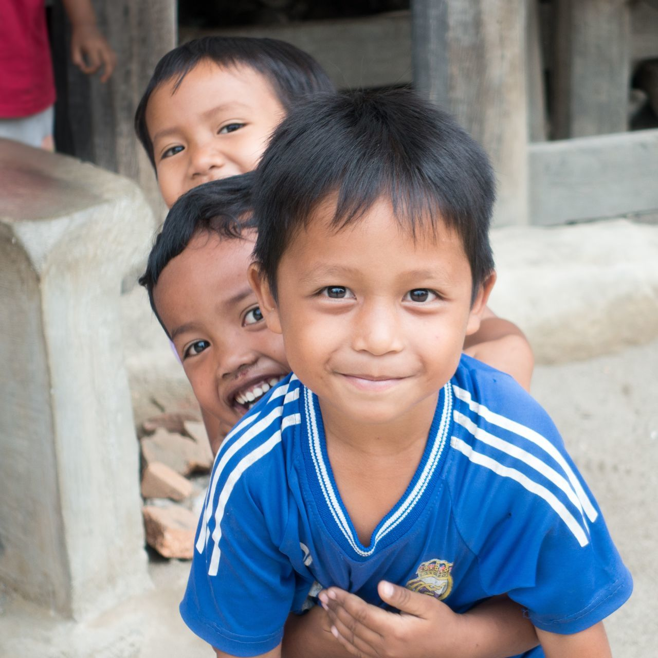 Child Smiling Boys Childhood Happiness People Portrait Children Only INDONESIA