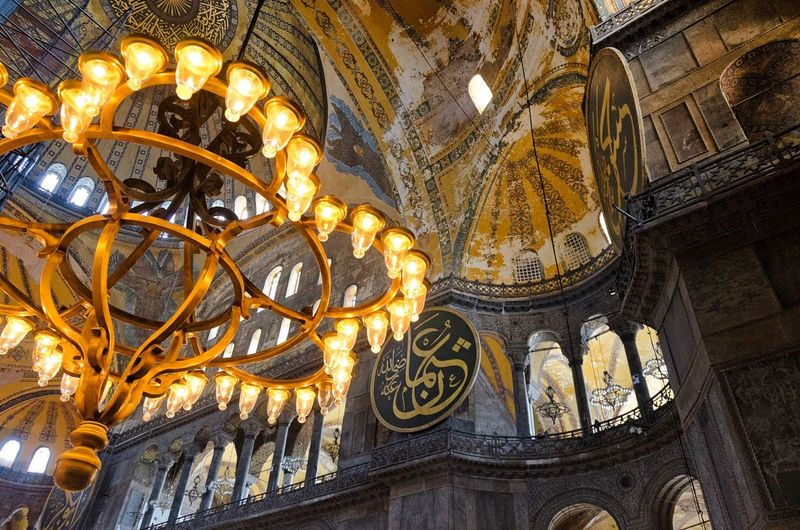 Inside the Hagia Sophia - Istanbul Turkey Architecture The Great Indoors Light And Shadow Historically Yours