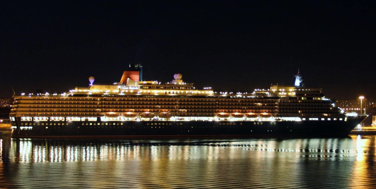 Cruise Ship Nightphotography Night Lights Night Photography Travel Photography Cunard