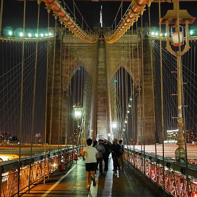 Newyork Brooklynbridge Night Summer Architecture Arkitektur Sommar Natt ImagesofNYC