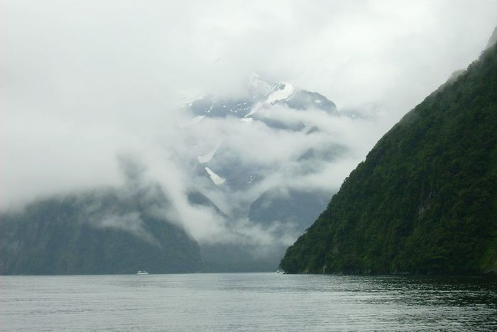 Danger One Person Cloud - Sky Day Water People Outdoors Milford Sound New Zealand Landscape Nature New Zealand Beauty