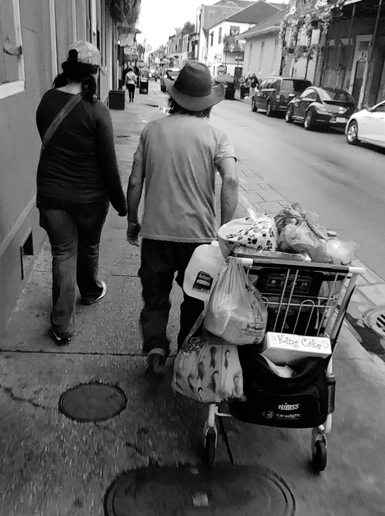City Life Rear View Full Length Social Issues Senior Adult Help A Veteran Vietnam Veterans Shopping Cart EyeEmNewHere Welcome To Black Resist TCPM The Street Photographer - 2017 EyeEm Awards Neighborhood Map New Orleans, LA