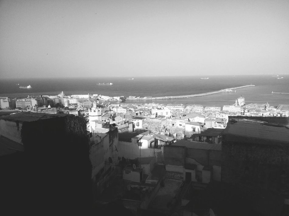 Buildings Casbah Sky And Clouds Phoneography Black And White Black & White Blackandwhite Photography Black&white Blackandwhite Mediterranean