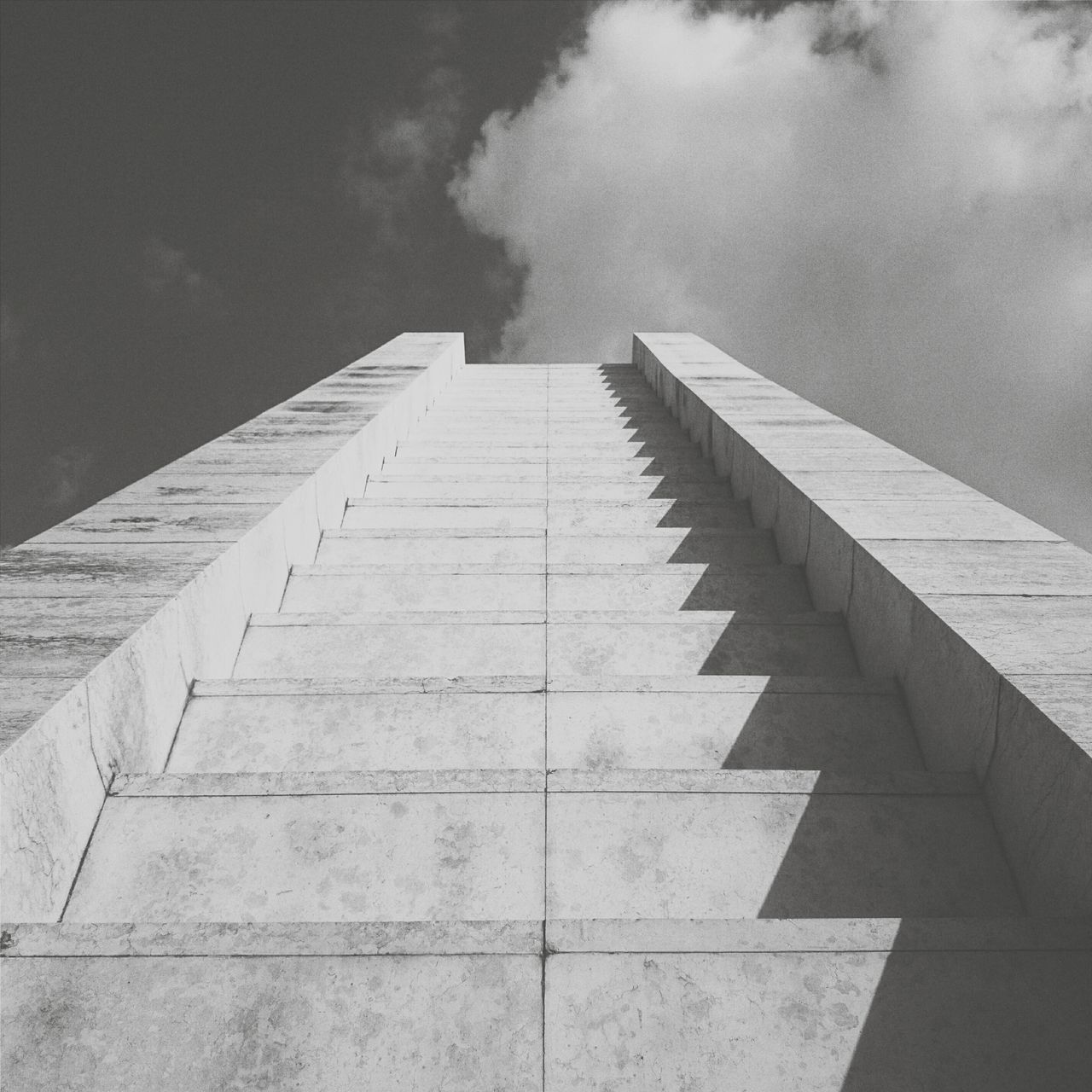 • stairway to ...• Minimalism Clouds And Sky EyeEm Best Shots Blackandwhite Black & White Stairs Bnw Eye4photography  AMPt Community Urban Geometry