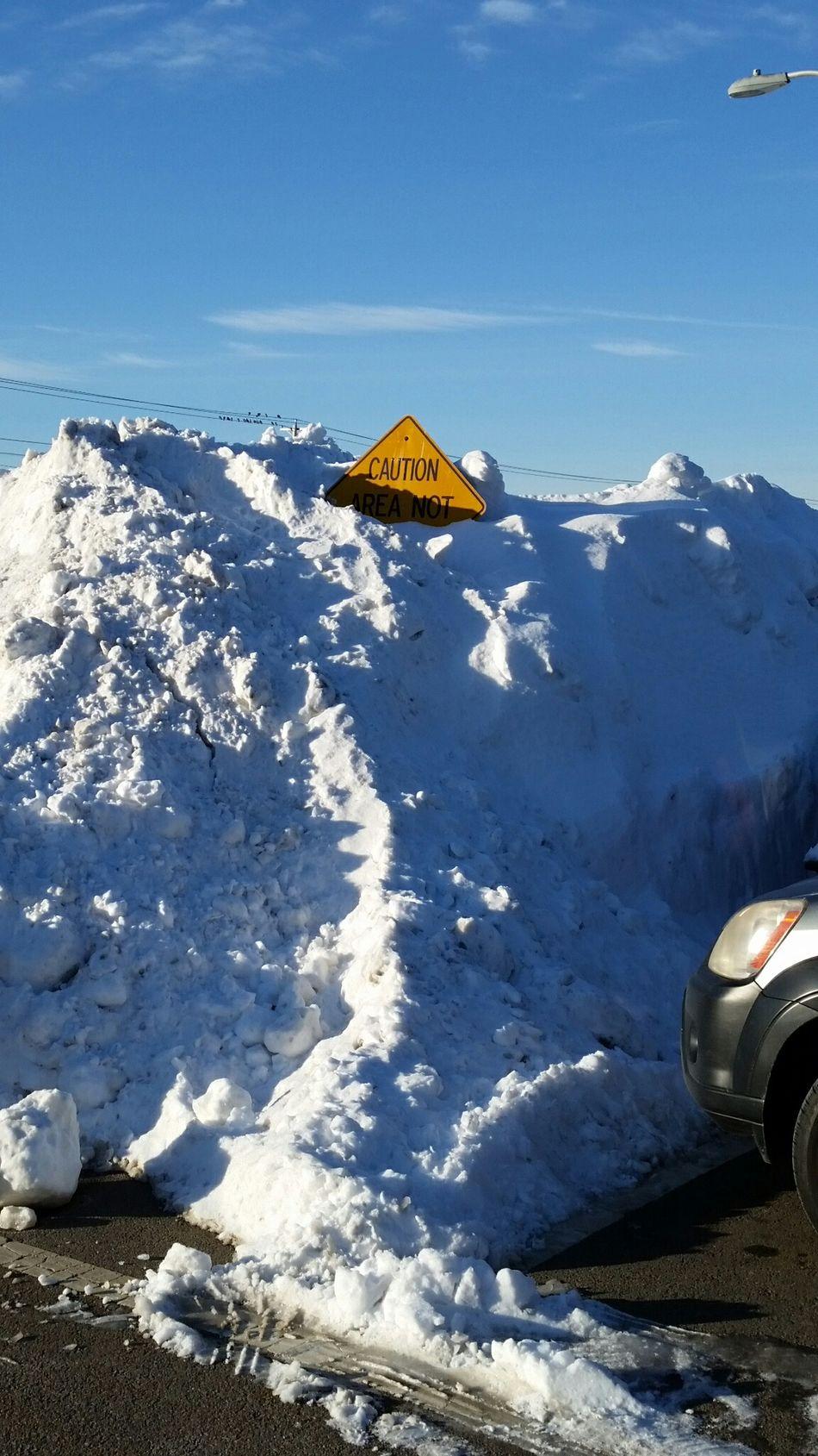 """CAUTION: AREA NOT SALTED"" Humor Humour Snow Mountain Snow Snow ❄ Snowfall Signs Signpost Southeastern Massachusetts Massachusetts South Shore Rockland, Massachusetts"