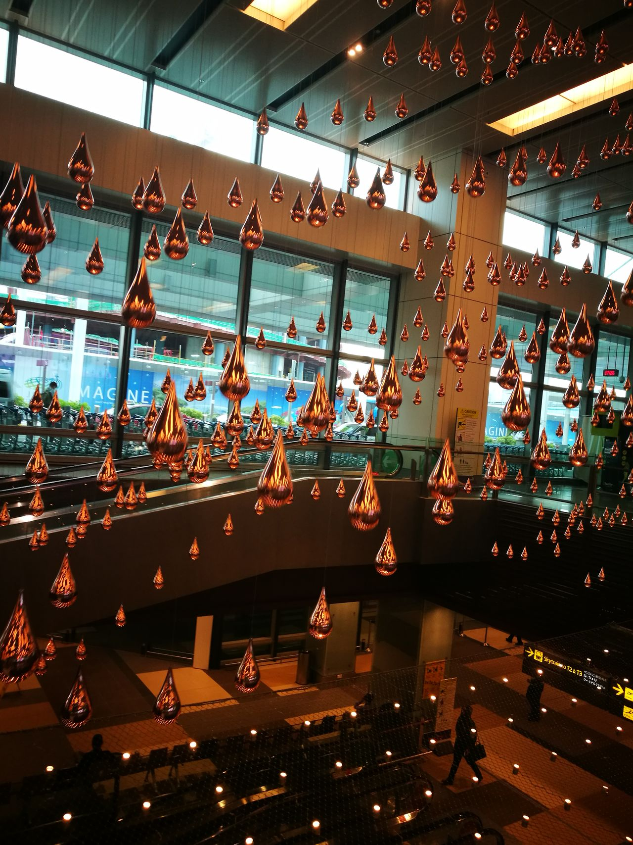 Embrace Urban Life Arts Culture And Entertainment No People Indoors  Singapore Nofilter Changi Airport Airport Kinetic Rain