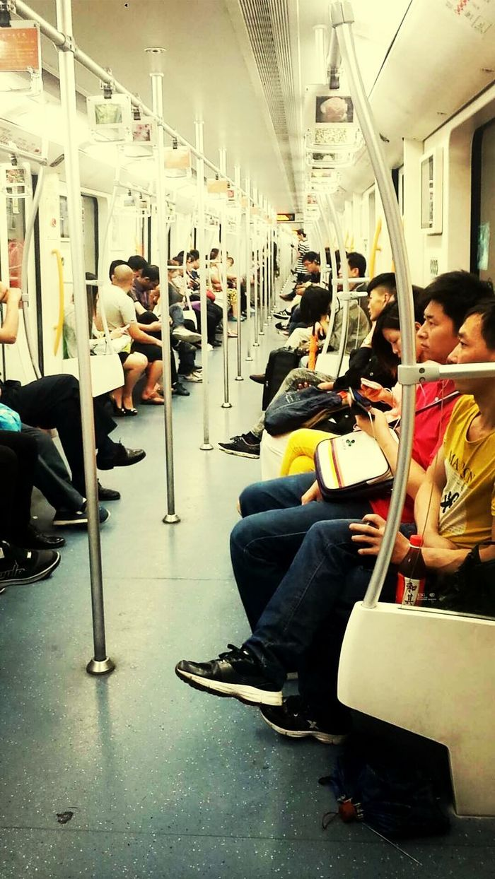 In the metro in Shanghai Crowded Metro
