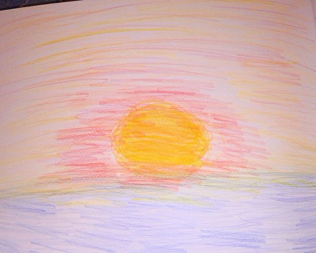 Sunset Drawing First Eyeem Photo