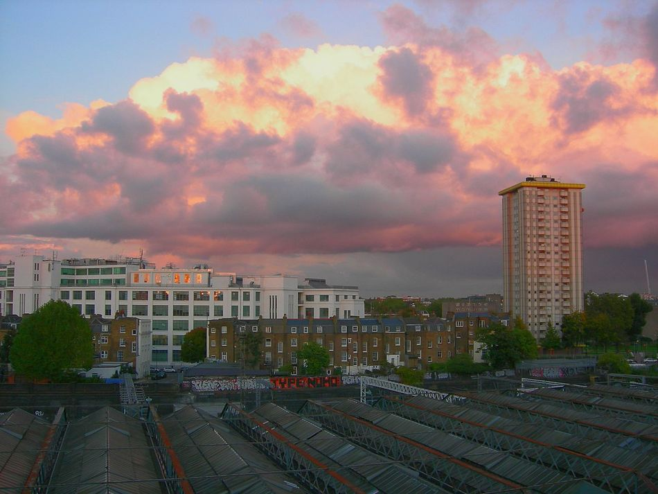 Clouds On Fire City Cityscape Urban Skyline Architecture Cloud - Sky Roof Outdoors Modern Sky Sunset Day London Camden Town EyeEmNewHere
