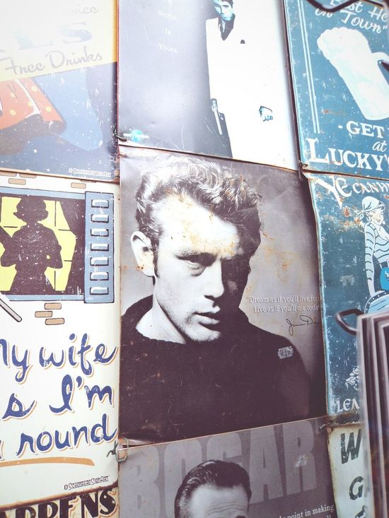 The original diamond, lost amongst the rough. James Dean Rebel Without A Cause London Portobello Market Twominutehipster The Original Bad Boy