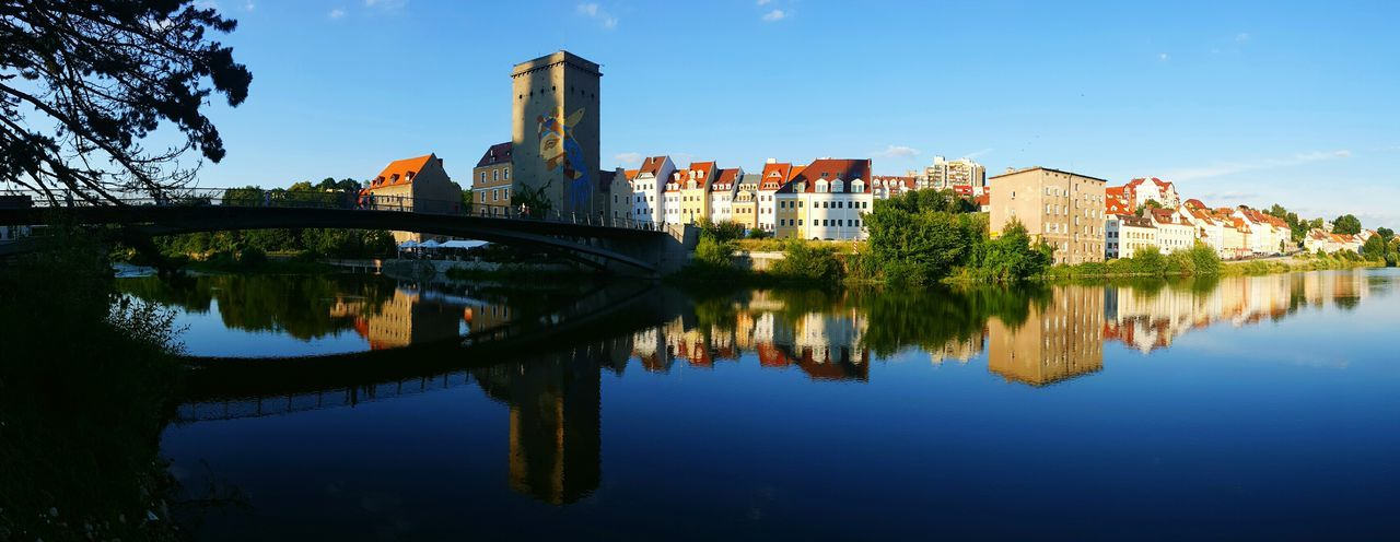 Görlitz Poland Mirrored Mirroring Buildings Architecture River Blue Sky Lausitzer Neiße Panorama Panoramic Photography Panoramic View Panoramic Landscape July Showcase Showcase July Best Eyeem Shots Samsung Galaxy S6 Edge Adapted To The City