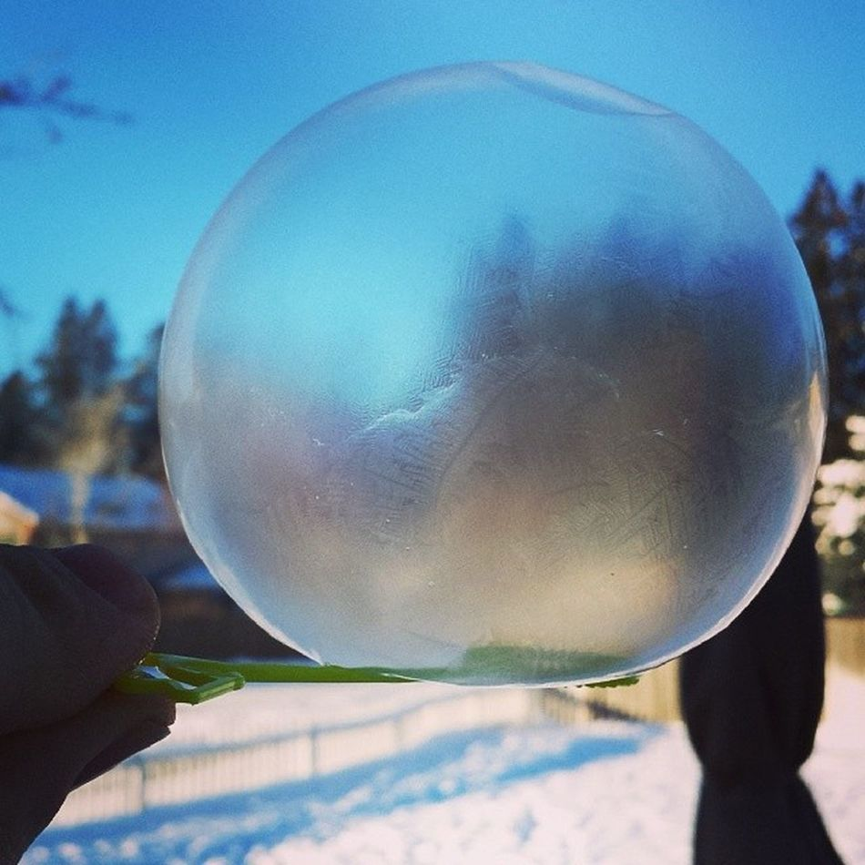When it's -5F a Bubble Freezes in less than 10 seconds Icebubble Arcticblast