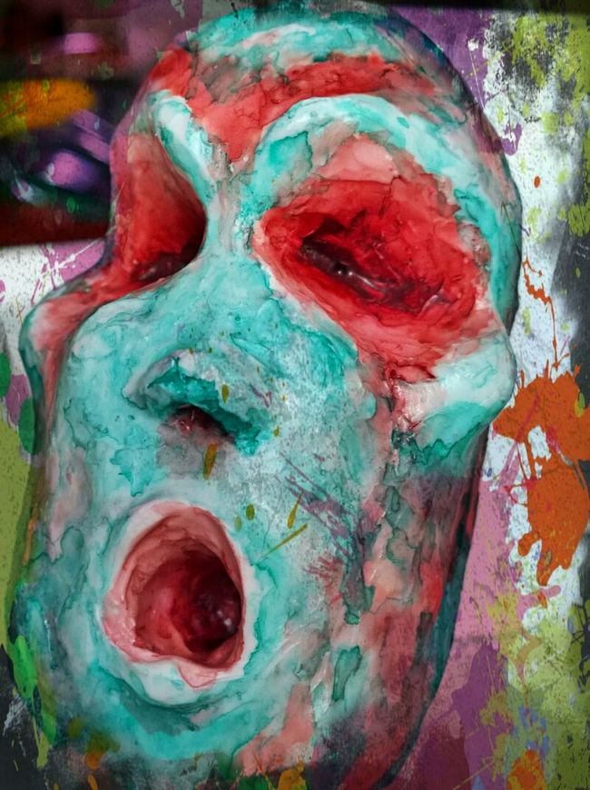 Art Paintings Sculptures Mixedmedia Secret Garden Mixed Media Multi Colored Art And Craft Textured  Painting Extreme Close-up Colorful