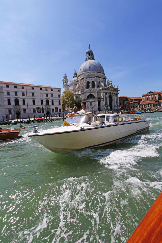 Venice stands for VEryNICE Blue Skies Boat Canal Grand Canal Italy Picturesque Romantic City San Simeone Piccolo Speedboat Tourist Destination Venice Water Waterway